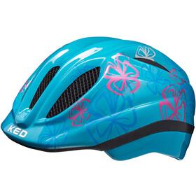 KED Meggy Trend Helmet Kids lightblue flower